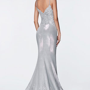 Cinderella Dresses - Strapless Glitter Ballgown Long Dress CD9175